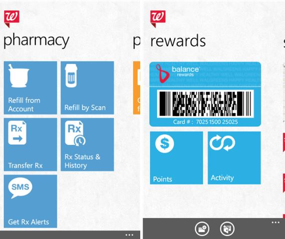 Walgreens Windows Phone app