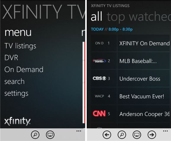 Xfinity Windows phone