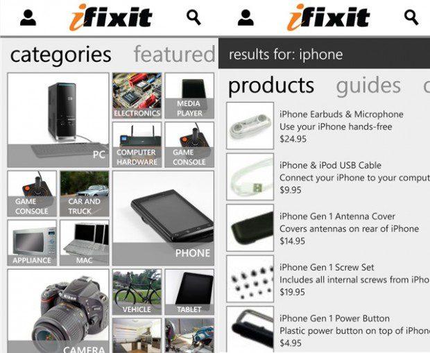 iFixit Windows Phone app