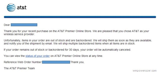 ATT Order Status