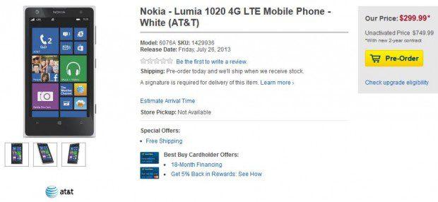 Best Buy Nokia Lumia 1020