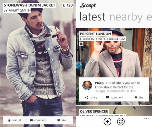 Scoopt Windows Phone Fashion app
