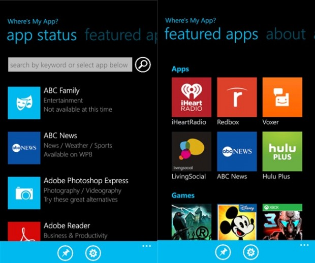 Where's my app Windows Phone