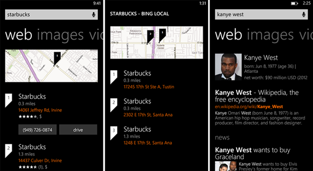 bing search results windows phone august 2 2013 screenshot 1