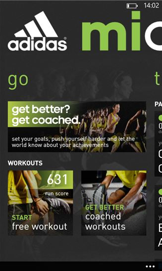 Adidas Micoach Windows Phone