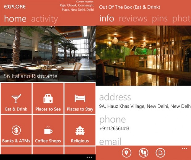 Explore Windows Phone app