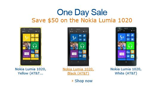 Nokia Lumia 1020 Amazon Sale