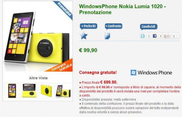 Nokia Lumia 1020 Italy