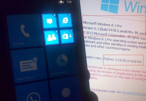 Windows Phone 8.1 Blue Folders