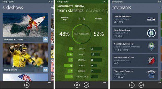 Bing Sports App