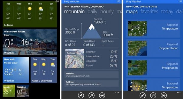 Bing Weather App