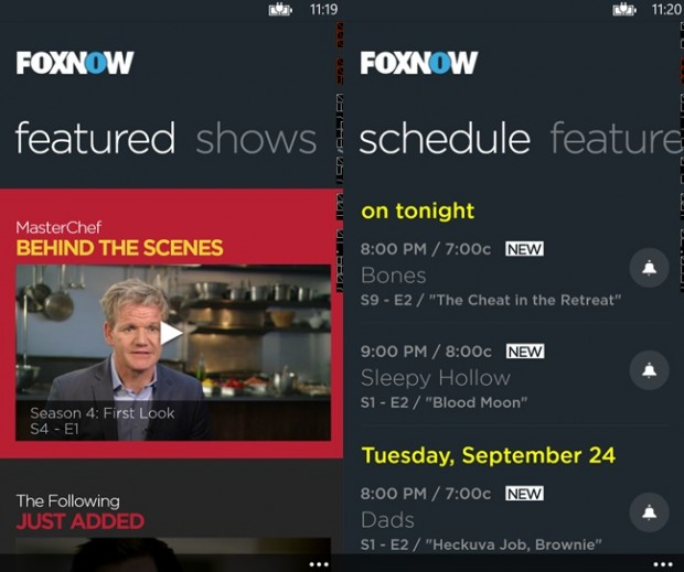 Fox Now Windows Phone