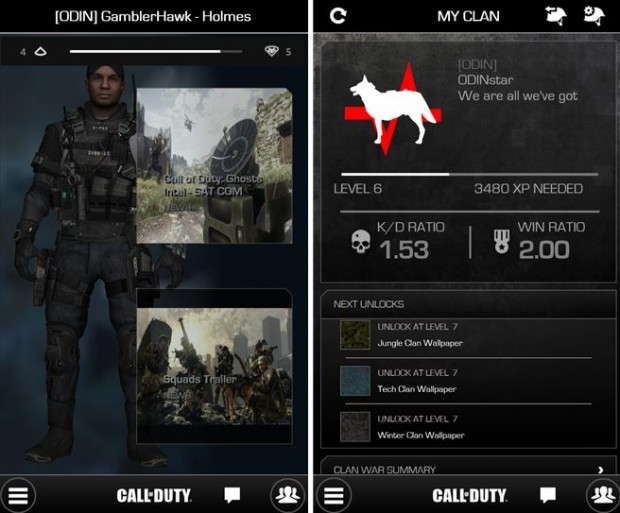 Call Of Duty Windows Phone app