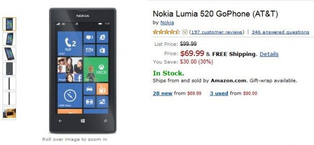 Nokia Lumia 520 Deal