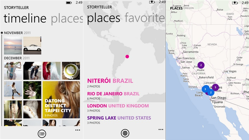 Nokia Storyteller Windows Phone