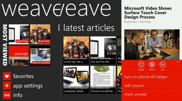 Weave News Reader Windows Phone