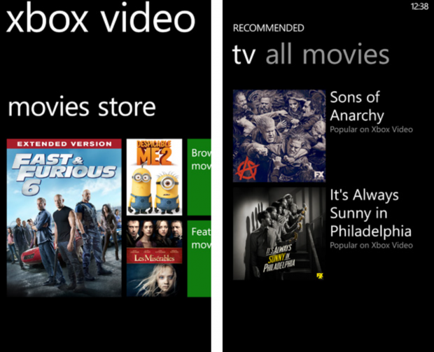 Xbox Video app Windows Phone Download
