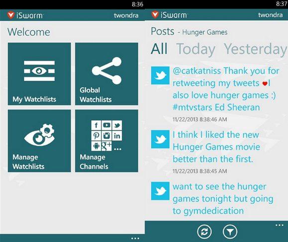 iSwarm Windows Phone