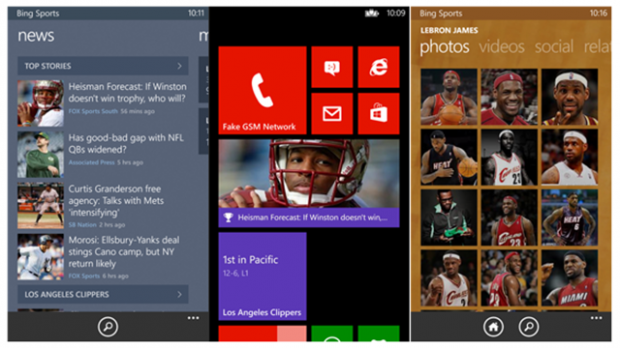 Bing Sports App Windows Phone