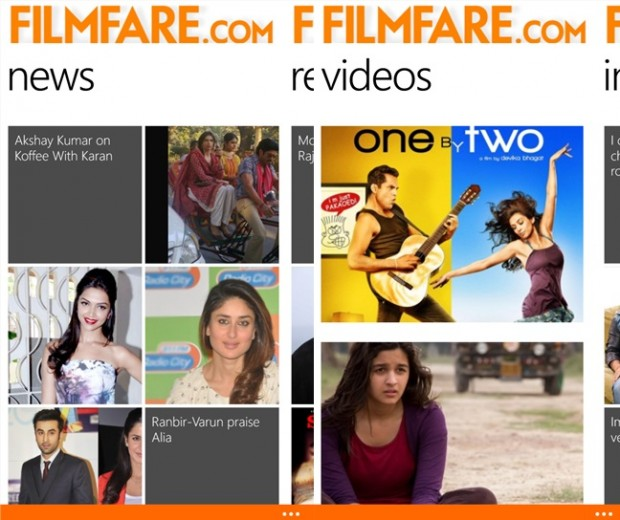 Filmfare Windows Phone