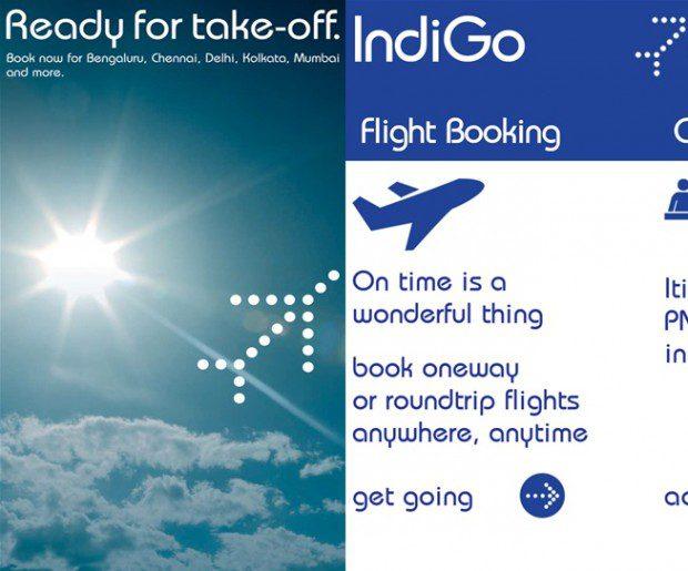 Indigo airlines Windows Phone app