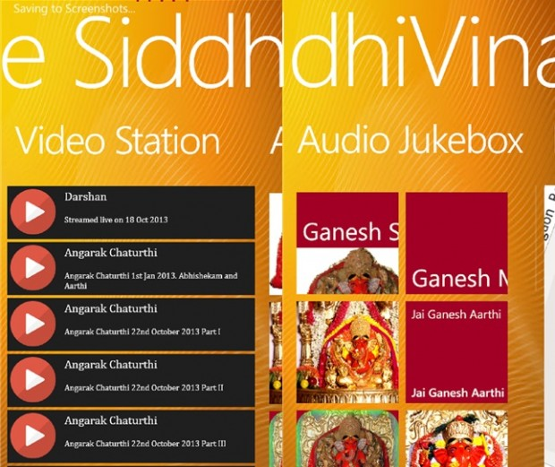 SiddhiVinayak Temple Windows phone app