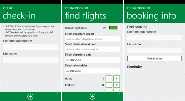citilink indonesia Windows Phone