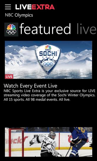 NBC Live Extra Windows Phone