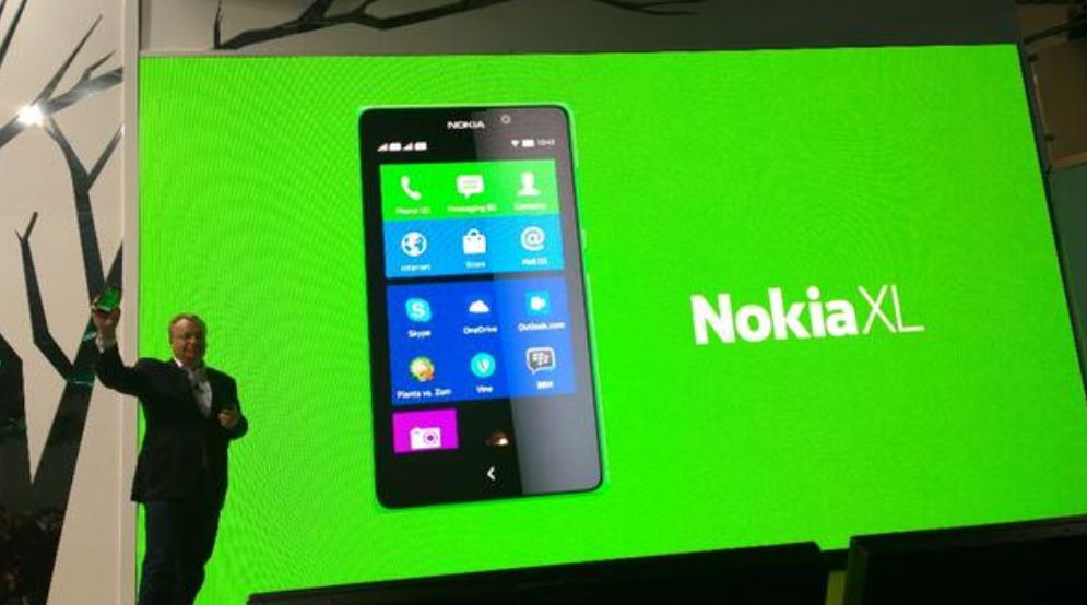 Nokia XL Android device