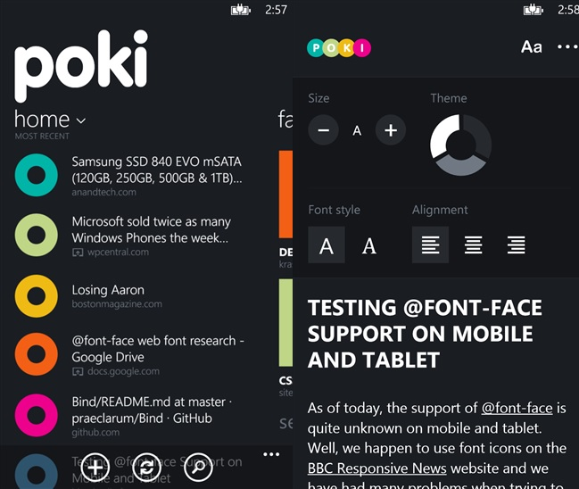 Poki Pocket Client Windows Phone