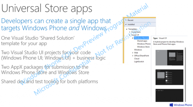 WIndows Universal Store apps