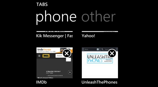 IE11 on Windows Phone 8.1–InPrivate browsing and tab synching demoed 1
