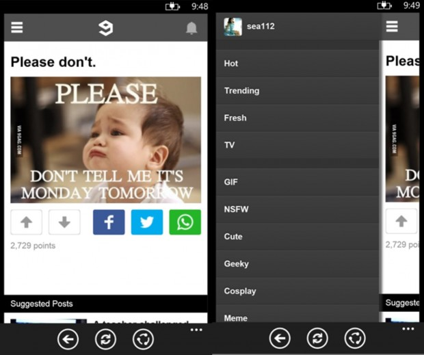 9GAG Windows Phone app