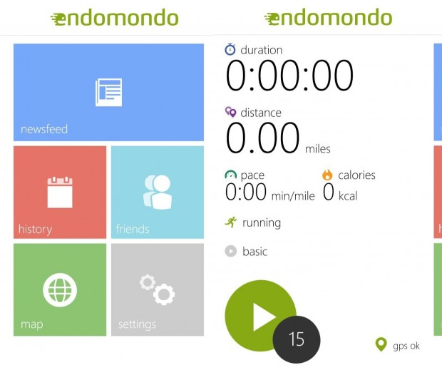 Endomondo Windows Phone 8