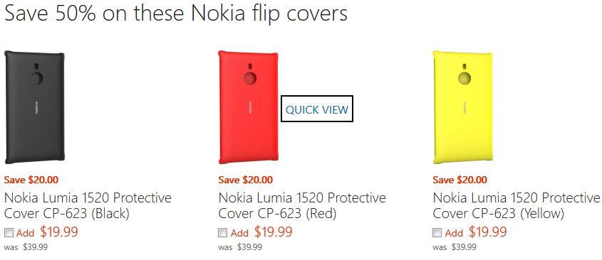 Nokia Lumia 1520 Flip Cover