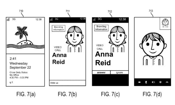 Windows Phone call UI patent 1