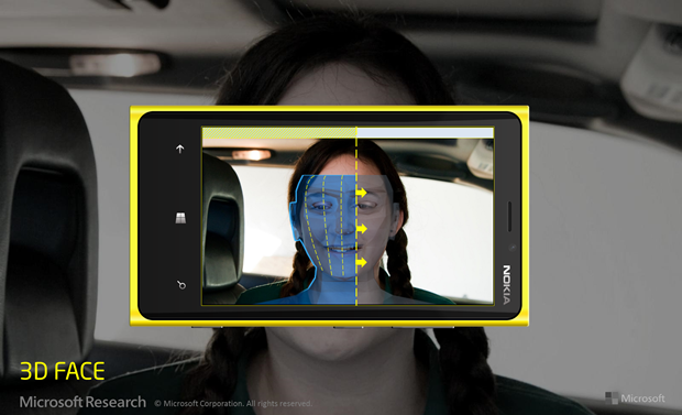 Microsoft Research Demoes 3D Face Scanning using only a Windows