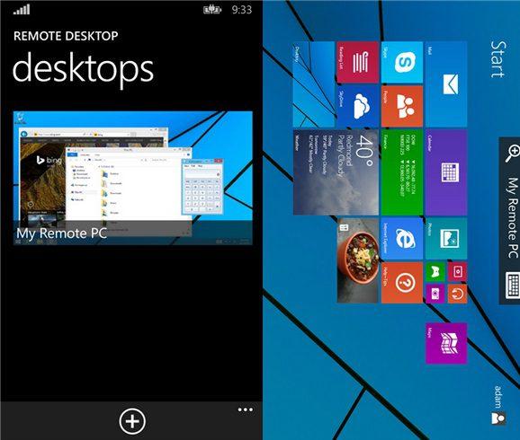 Remote Desktop Preview WP8.1