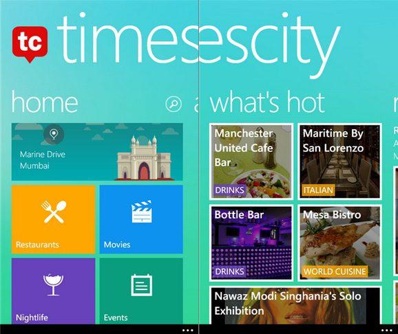 TimesCity Windows Phone
