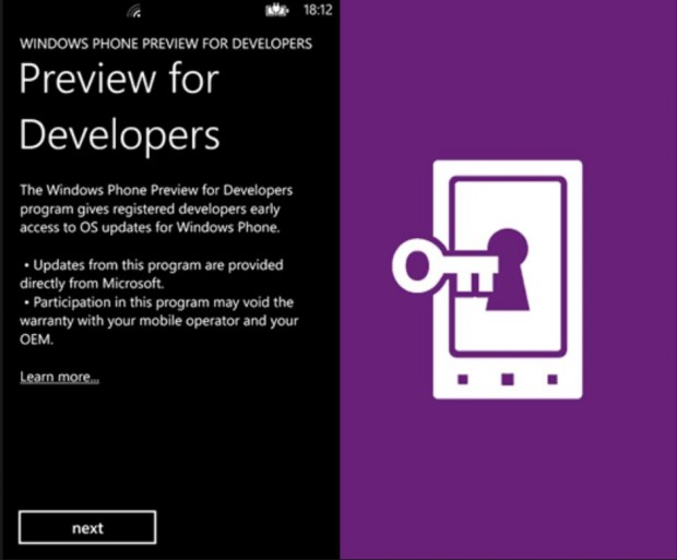 Windows Phone 8.1 Developer Preview app