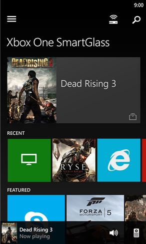 Xbox One SmartGlass Windows Phone