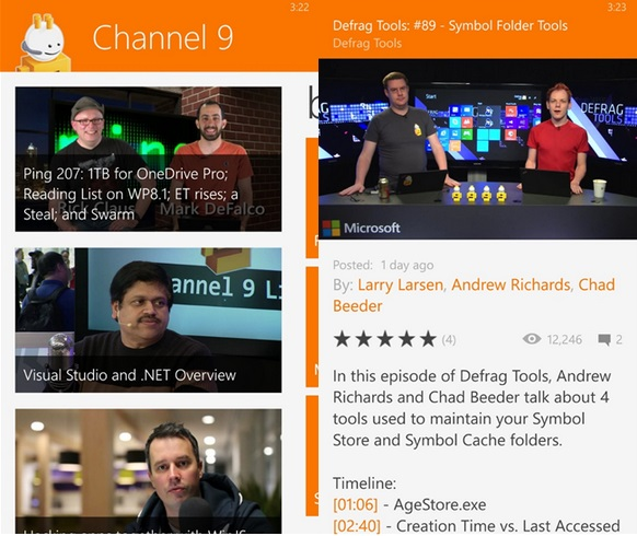 Channel 9 Windows Phone app