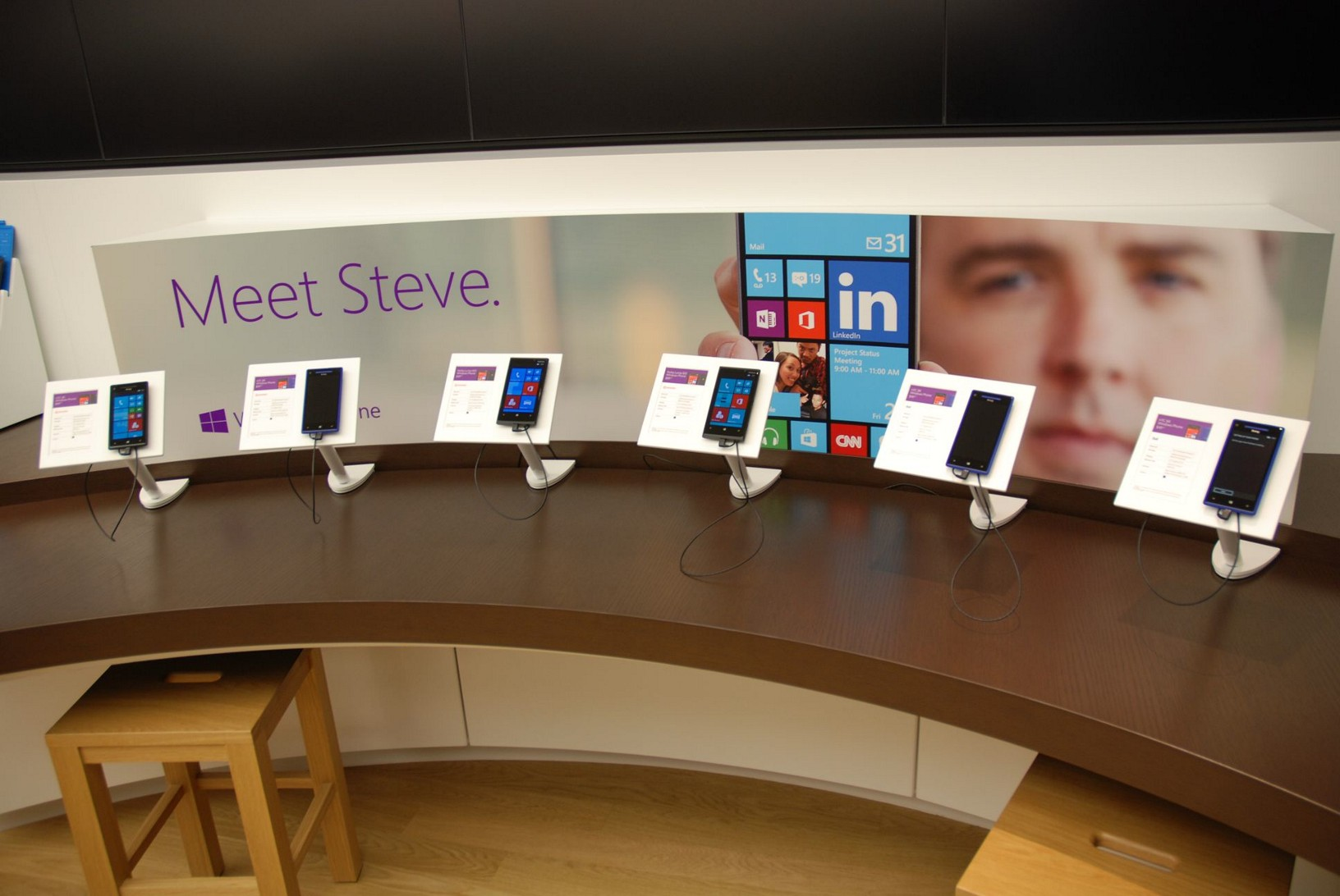 Microsoft Store Windows Phone Display
