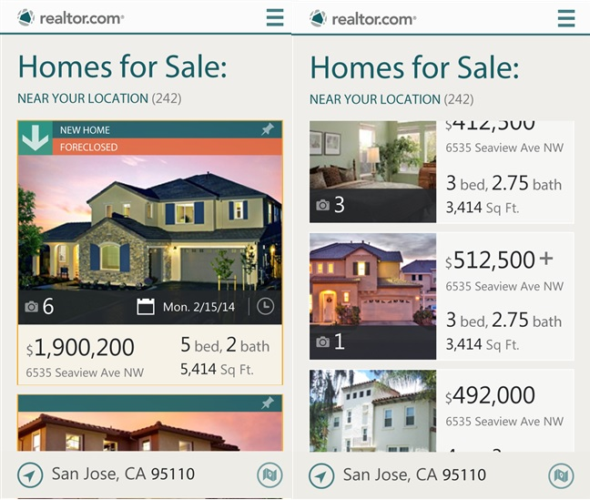 Realtor Windows Phone