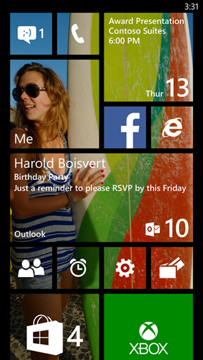 Windows Phone Transparent Live Tile