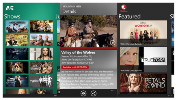History and lifetime Windows phone app