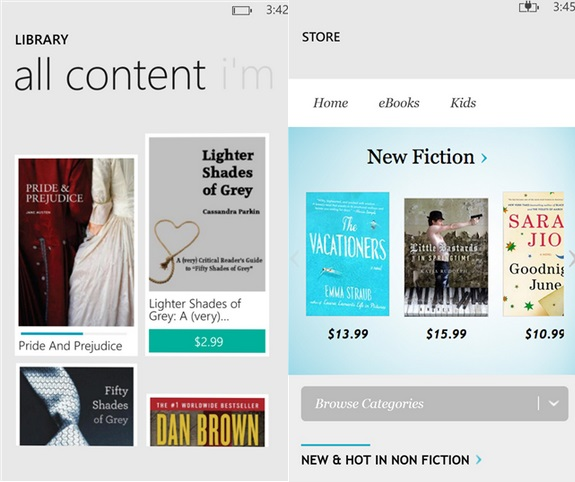 Kobo Windows Phone app