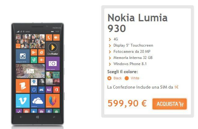 Nokia Lumia 930 Italy