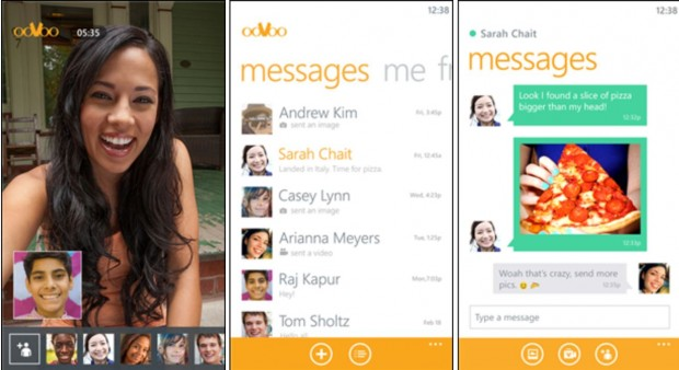 Oovoo Windows Phone app
