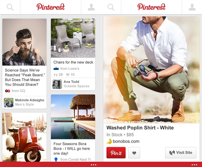 Pinterest Windows Phone app